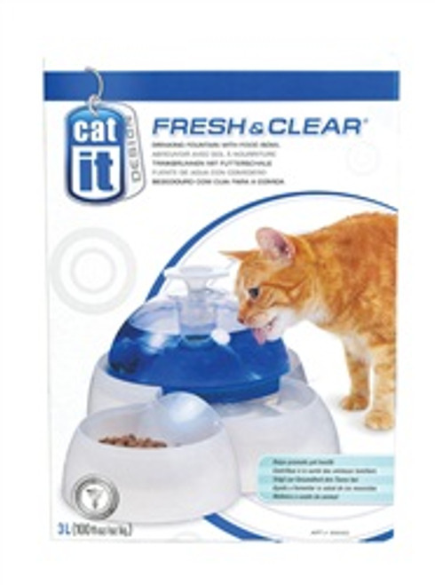Drinking Fountain with Food Bowl