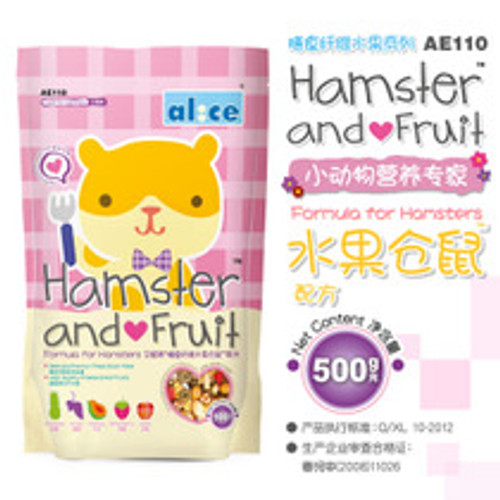 Alice Hamster & Fruit 500g