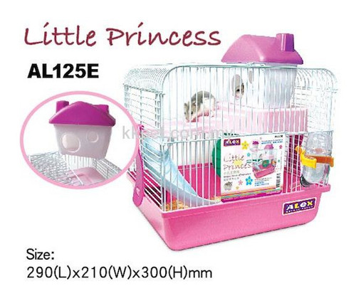 Alex Little Princess Hamster Cage Pink (w/o outer box)