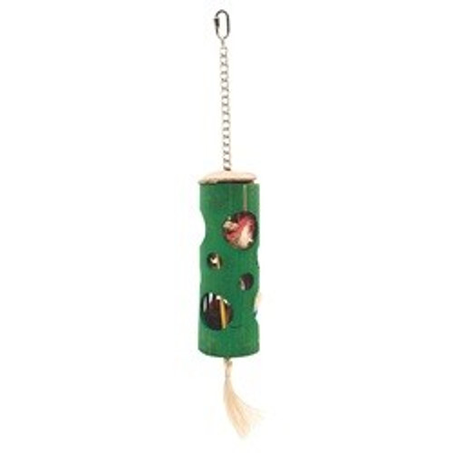 Living World Nature's Treasure Bamboo Foraging tube with Open Holes, For medium, large, and extra-large hookbills