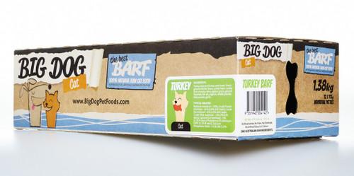 Big Dog Barf Raw Turkey for Cats