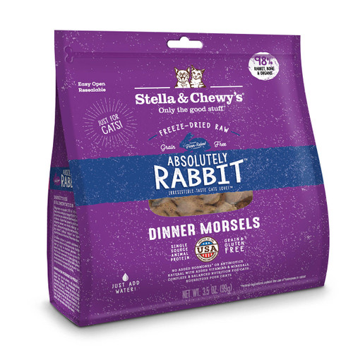 Stella & Chewy's Absolutely Rabbit Cat Freeze-Dried Raw Dinner Morsels