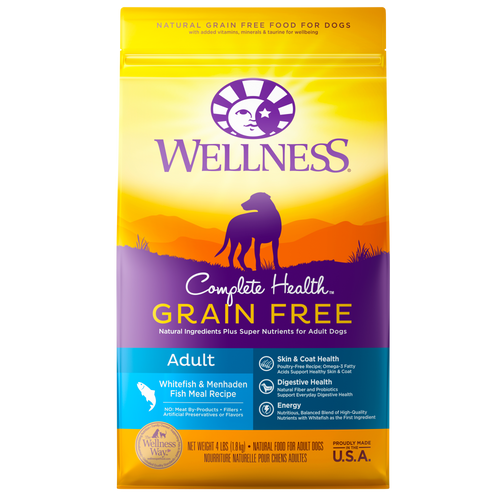 Wellness Complete Health Grain Free Whitefish & Menhaden Fish Meal Dog Kibble