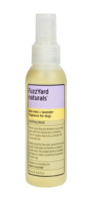 FuzzYard Aloe Vera + Lavender Soothing Fragrance Spray  Aromatherapy Mist for Dogs 120ml