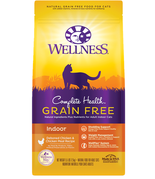 Wellness Complete Health Grain Free Indoor Deboned Chicken & Chicken Meal Cat Kibble