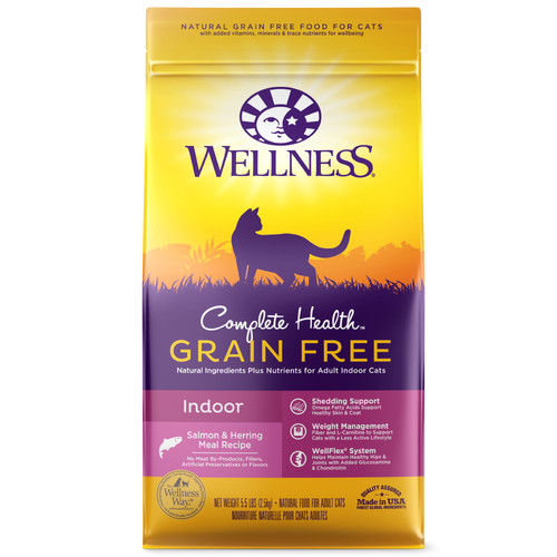 Wellness Complete Health Grain Free Indoor Salmon & Herring Cat Kibble