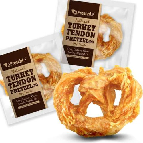 AFreschi Natural Turkey Tendon Pretzel Small