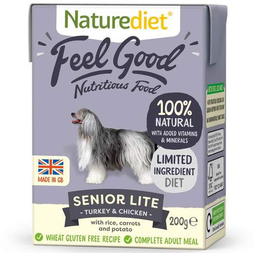 Naturediet Feel Good Senior Lite Turkey & Chicken Wet Dog Food