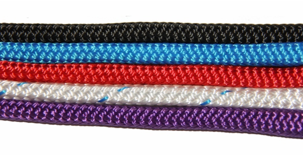 Black, blue, red, white with blue fleck, purple