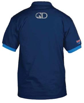 Blue Diagonal Stripe Polo Shirt