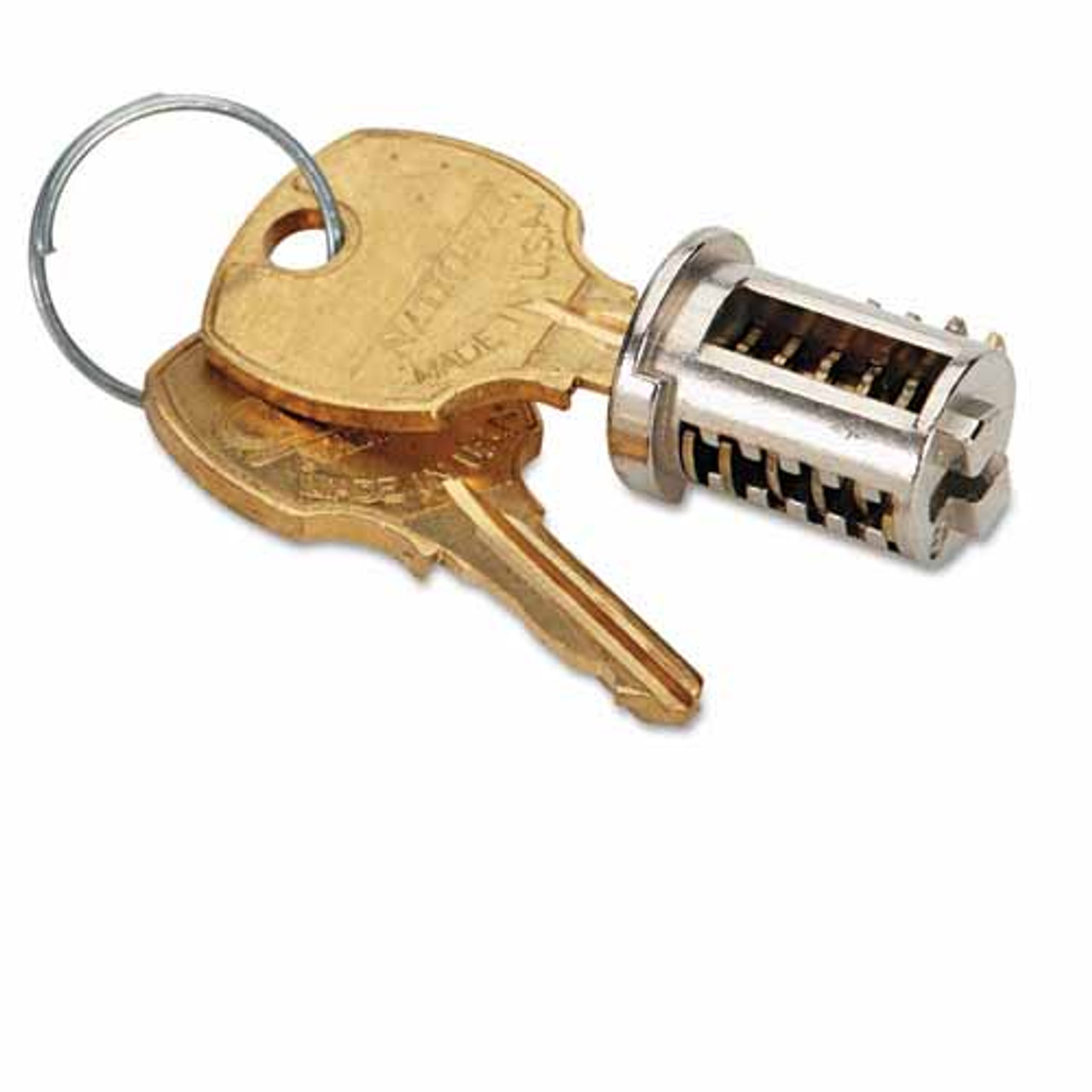 Lock Core And Key Replacement Kit For File Cabinets