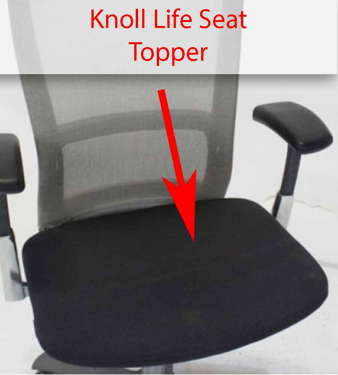 Knoll Life Chair Replacement Seat Topper Cushion Pad