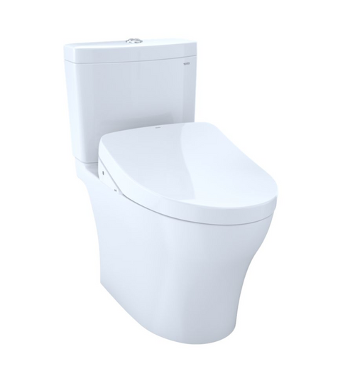 TOTO Aquia IV WASHLET+ S550e Two-Piece Toilet - 1.28 GPF and 0.8 GPF