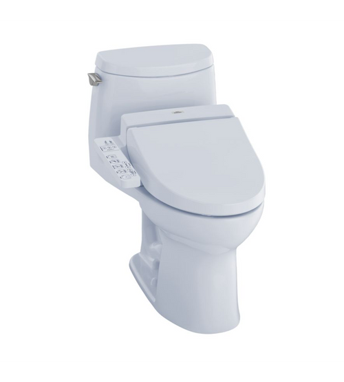 TOTO UltraMax II 1G Washlet+ C100 One-Piece Toilet and Bidet System - 1.0 GPF