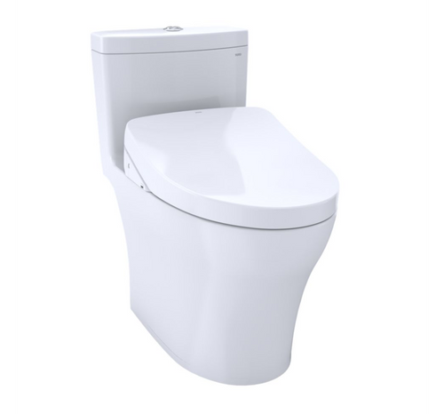TOTO Aquia IV WASHLET+ S550e One-Piece Toilet, Universal Height – 1.28 GPF and 0.8 GPF