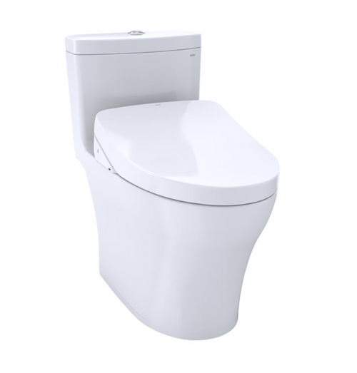 TOTO Aquia IV WASHLET+ S500e Universal Height One-Piece Toilet - 1.28 GPF and 0.8 GPF
