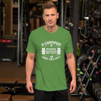 Fitness Champion Motivational Short-Sleeve Unisex T-Shirt
