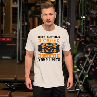 Fitness Don't Limit Your Challenge Short-Sleeve Unisex T-Shirt