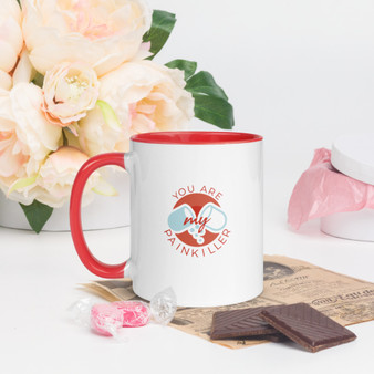 You Are My Painkiller Mug with Red Inside