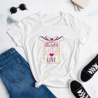 Live, Laugh, Love short sleeve t-shirt