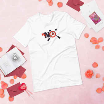 No To Cupid Short-Sleeve Unisex T-Shirt
