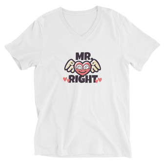 Mr Right Short Sleeve V-Neck T-Shirt