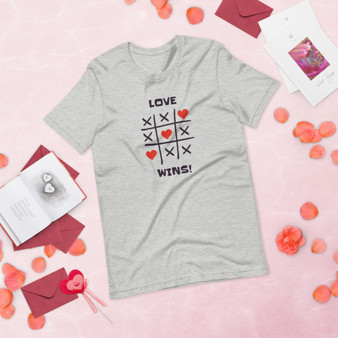 Tic Tac Toe Love Wins Short-Sleeve Unisex T-Shirt