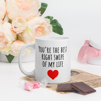 You're The Best Right Swipe Valentines Mug