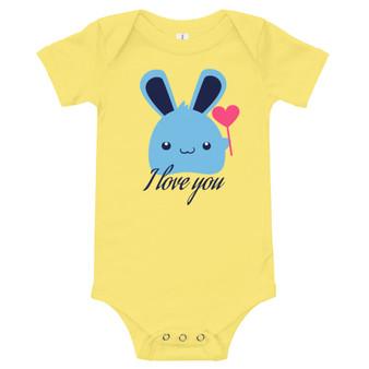 I Love You Bunny Infant Onesie