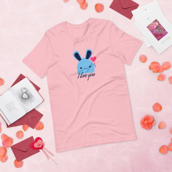 I Love You Bunny Short-Sleeve Unisex T-Shirt