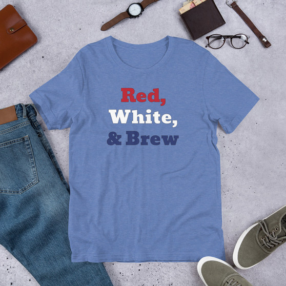 Red White & Brew Short-Sleeve Unisex T-Shirt
