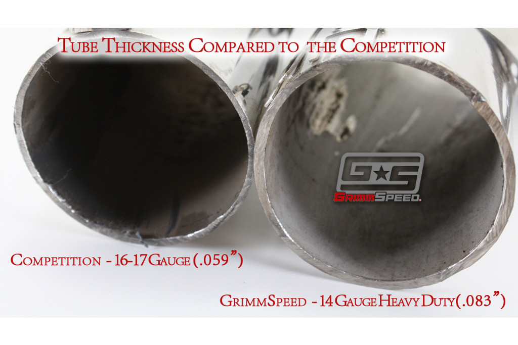 Tubing thickness compared to competitors