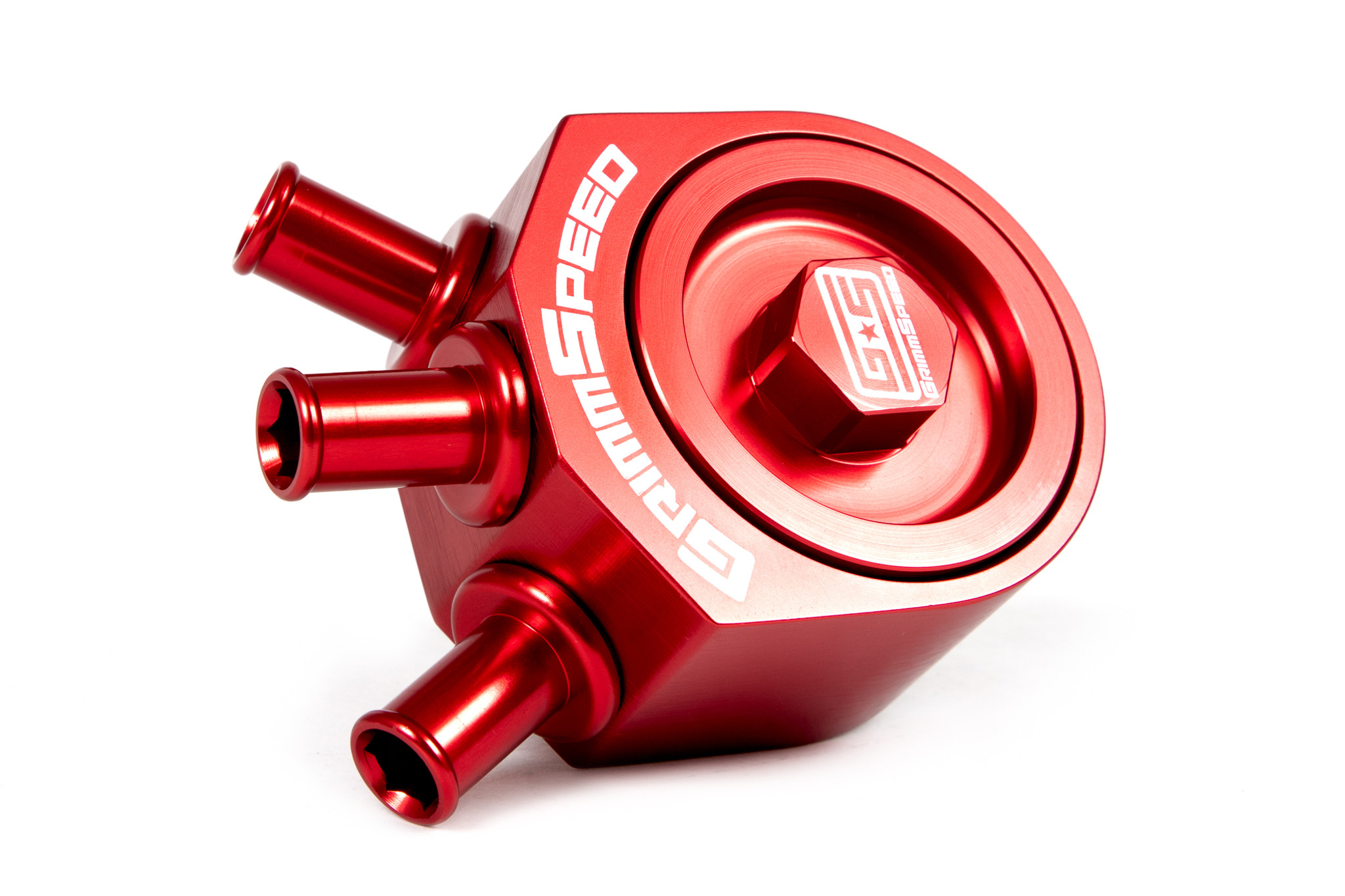 Grimmspeed Red Air 09 FXT 08-14 WRX Oil Separator for Subaru 05-09 LGT