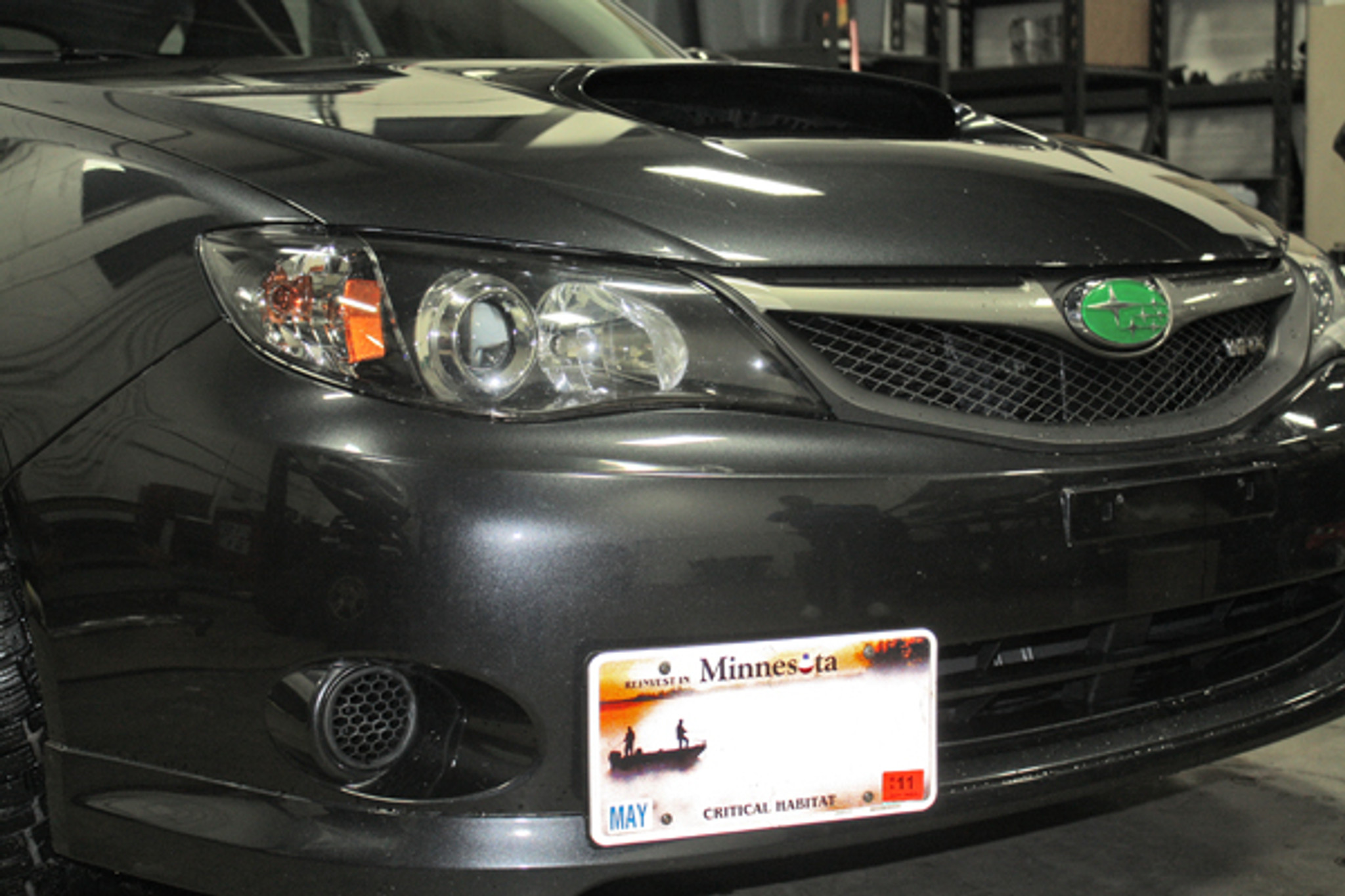 Multi Angle Tow Hook Mount License Plate Bracket For Subaru STI 08-14