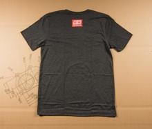 Torch and Caliper Flag T-Shirt - Gray