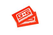 """Red GrimmSpeed 3""""x2"""" Sticker"""