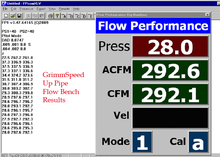 GrimmSpeed Up Pipe Flow Bench Test Results