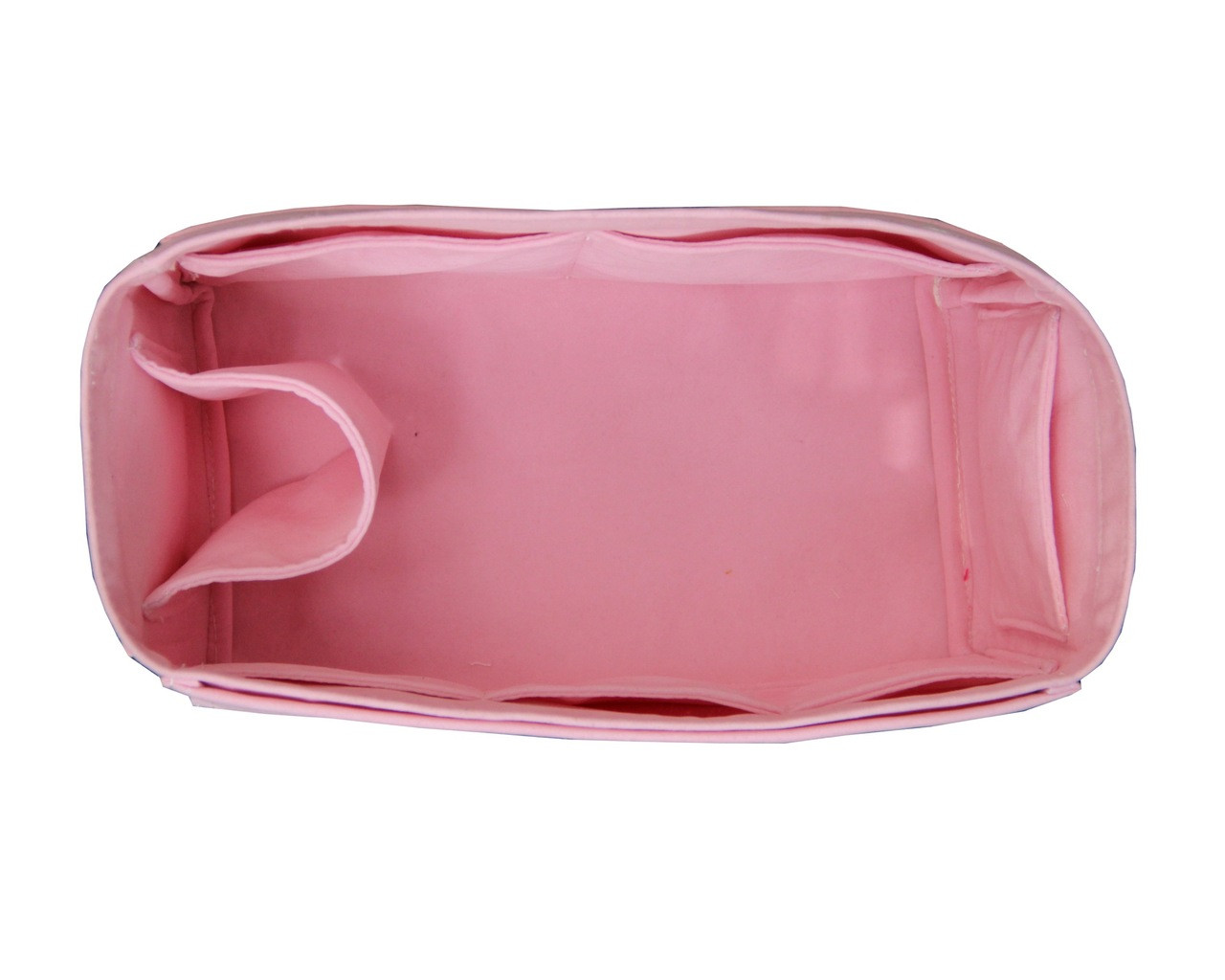 Customizable Velvet Tote Bag Organizer Purse Insert Open Pockets Longchamp Quadry Water Bottle Holder