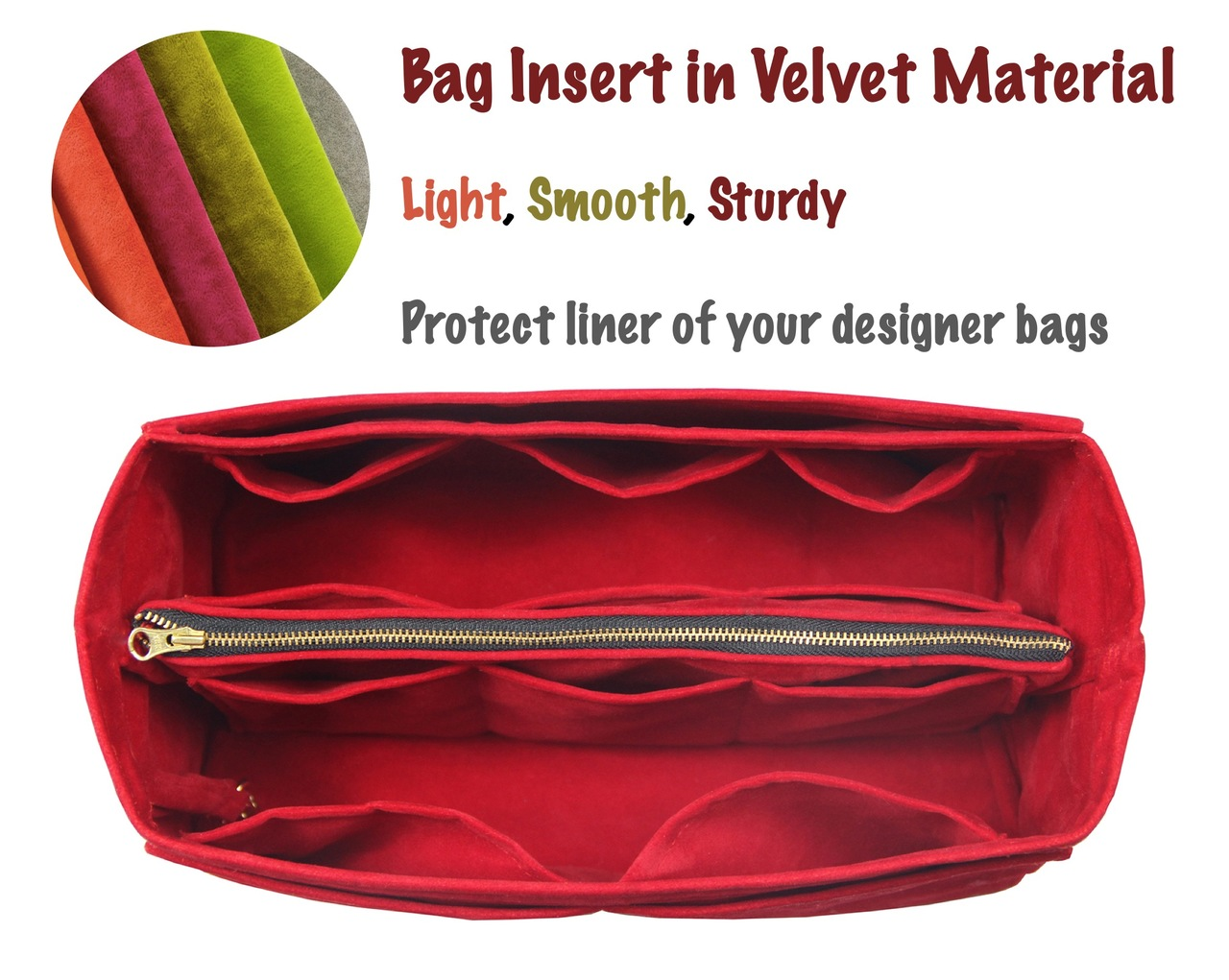 3e6888029683 Customizable Velvet Tote Bag Organizer