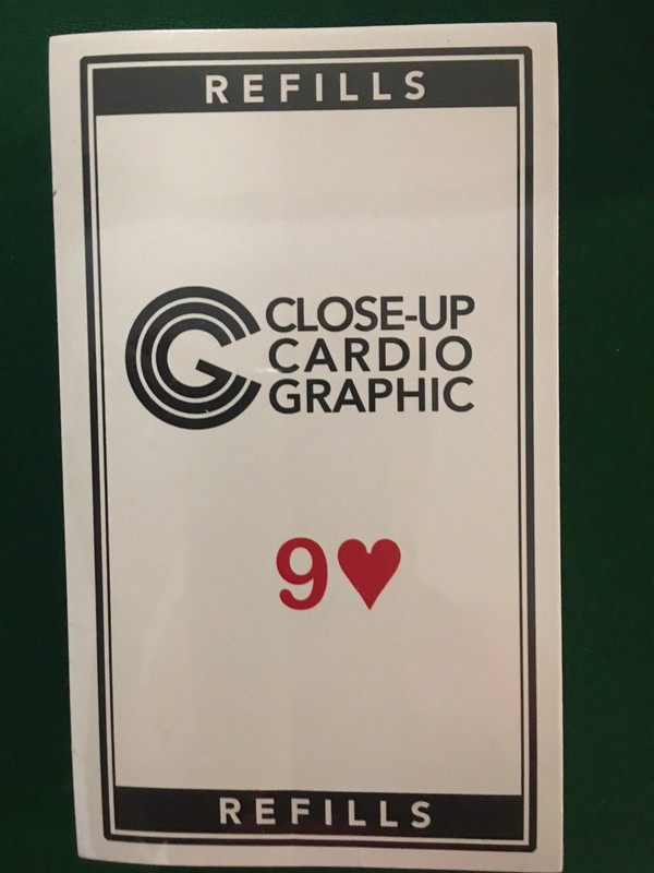 Close-up Cardiographic Red 9H Refills