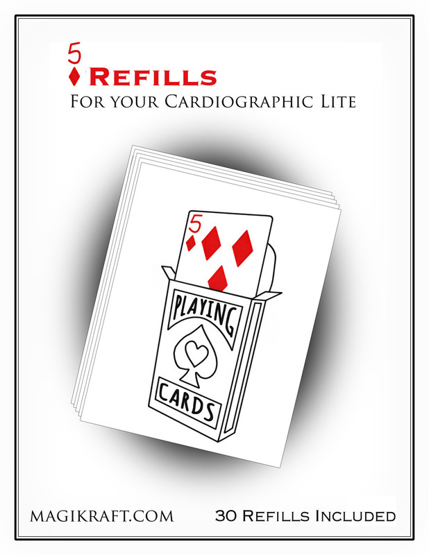 Cardiographic Lite Red 5D Refills