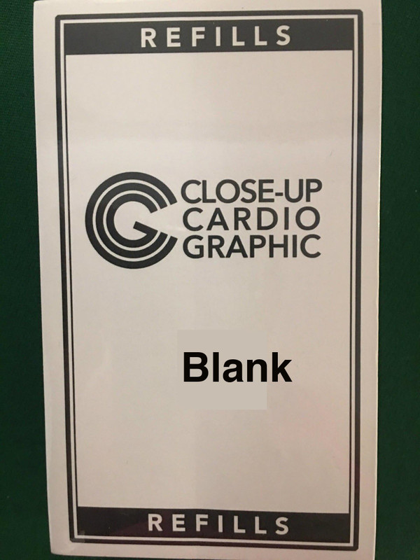 Close-up Cardiographic Blank Refills