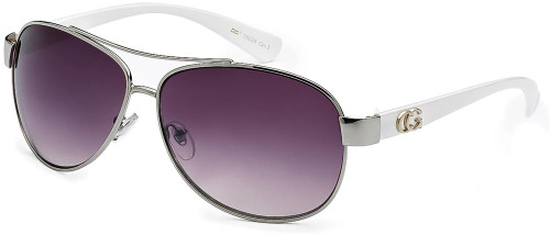 Lady's Color Aviator White