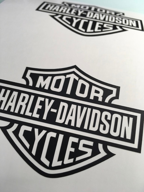 Example of Matte Black Decal, No Transfer Tape