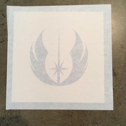 Star Wars Jedi Order symbol paint stencil.