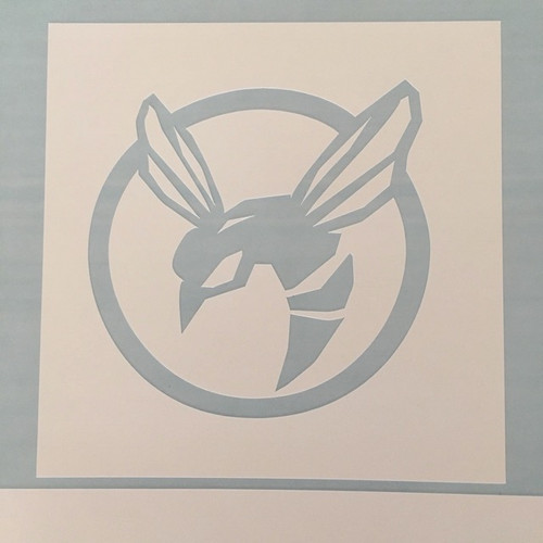 Paint stencil shown without transfer tape.
