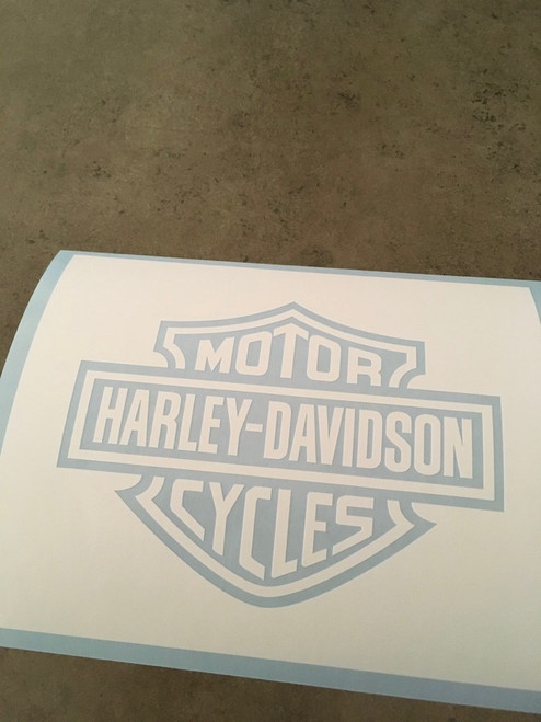 Stencil shown in opaque white stencil vinyl