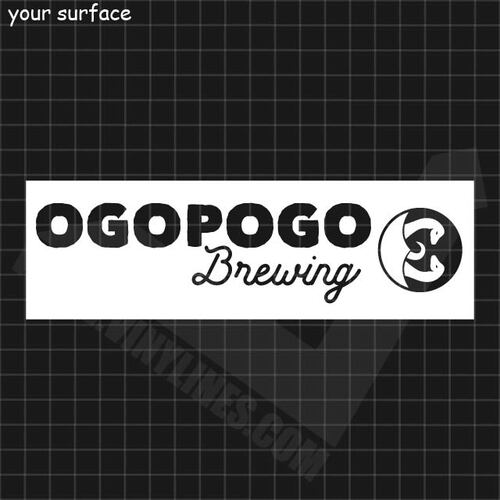 Ogopogo Brewing Logo Paint Stencil