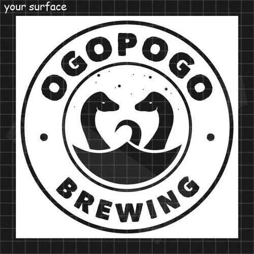 Ogopogo Brewing Medallion logo paint stencil