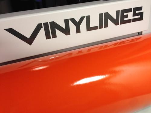 Glossy Orange Vinyl Material